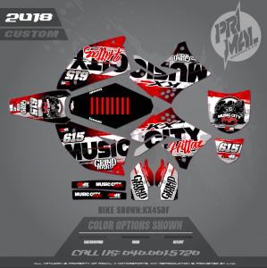 KX450F MOTOCROSS GRAPHICS ATV MX GRAPHICS PRIMAL X MOTORSPORTS MUSIC CITY