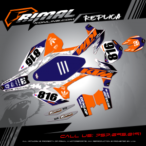 Primal X Motorsports - MX Graphics - 2016 KTM SX250  GRAPHICS bikelife Motocross Graphics PRIMAL X MX GRAPHICS LUCAS OIL