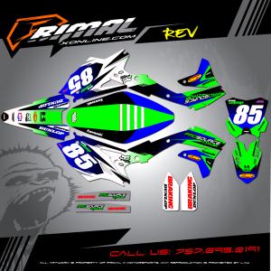 Primal X Motorsports - MX Graphics - 2016 KXF450 Jordan Landers