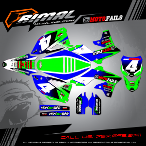 Primal X Motorsports - MX Graphics - KZF250 KX250F KX450 KXF450   moto.fails GRAPHICS bikelife Motocross Graphics PRIMAL X MX GRAPHICS