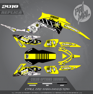 RAPTOR 700  CUSTOM MOTOCROSS GRAPHICS ATV MX GRAPHICS PRIMAL X MOTORSPORTS RETRO YAMAHA