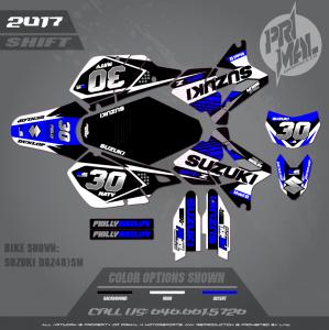 SUZUKI DRZ400SM DRZ400 MOTOCROSS GRAPHICS ATV MX GRAPHICS PRIMAL X MOTORSPORTS PHILLY BIKELIFE SERIES