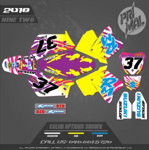 SUZUKI RM125 RM 250 MOTOCROSS GRAPHICS ATV MX GRAPHICS PRIMAL X MOTORSPORTS RETRO SUZUKI