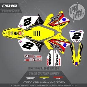 SUZUKI RM250 MOTOCROSS GRAPHICS ATV MX GRAPHICS PRIMAL X MOTORSPORTS MCGRATH REPLICA