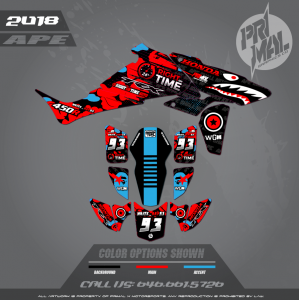 TRX450R CUSTOM MOTOCROSS GRAPHICS ATV MX GRAPHICS PRIMAL X MOTORSPORTS APE SERIES