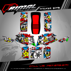 YAMAHA BANSHEE 350 MX GRAPHICS PRIMAL X MOTORSPORTS BIKELIFE MX DECALS MOTOCROSS ATV GRAPHICS STICKER BOMB