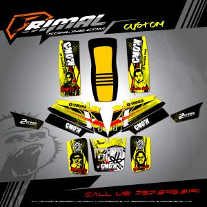 YAMAHA BANSHEE 350 MX GRAPHICS PRIMAL X MOTORSPORTS BIKELIFE MX DECALS MOTOCROSS CUSTOM ATV GRAPHICS