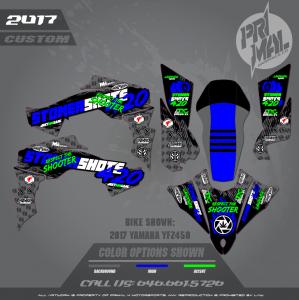 YAMAHA YFZ450 MOTOCROSS GRAPHICS ATV MX GRAPHICS PRIMAL X MOTORSPORTS 420SHOOTERS BIKELIFE SERIES