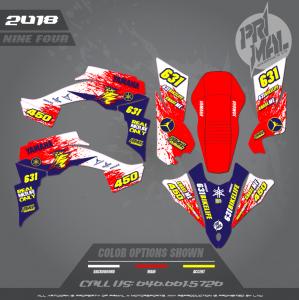 YAMAHA YFZ450 MOTOCROSS GRAPHICS ATV MX GRAPHICS PRIMAL X MOTORSPORTS NINE FOUR