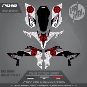 YAMAHA YFZ450 SIG MX GRAPHICS  MOTOCROSS GRAPHICS ATV MX GRAPHICS PRIMAL X MOTORSPORTS REAL BIKELIFE ONLY
