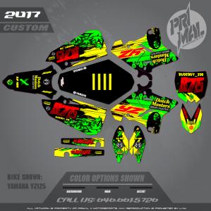 YAMAHA YZ125 MOTOCROSS GRAPHICS ATV MX GRAPHICS PRIMAL X MOTORSPORTS JAMAICA BIKELIFE SERIES