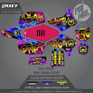 YAMAHA YZ250F MOTOCROSS GRAPHICS ATV MX GRAPHICS PRIMAL X MOTORSPORTS BALTIMORE BIKELIFE SERIES
