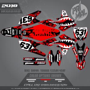 YAMAHA YZ250F YZ450F MX GRAPHICS MOTOCROSS GRAPHICS ATV MX GRAPHICS PRIMAL X MOTORSPORTS WARBIRD