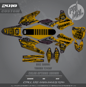 YAMAHA YZ450F MOTOCROSS GRAPHICS ATV MX GRAPHICS PRIMAL X MOTORSPORTS BIKESTARS SERIES