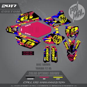 YAMAHA YZ85 MOTOCROSS GRAPHICS ATV MX GRAPHICS PRIMAL X MOTORSPORTS BIKELIFE SERIES
