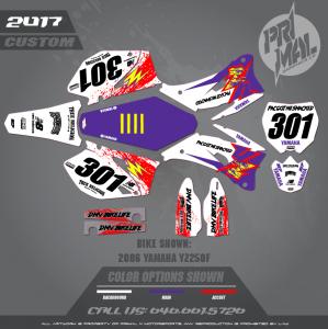 YAMAHA YZF250 MOTOCROSS GRAPHICS ATV MX GRAPHICS PRIMAL X MOTORSPORTS RETRO BIKELIFE SERIES