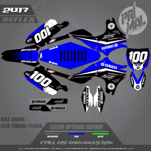 YAMAHA YZF450 MOTOCROSS GRAPHICS ATV MX GRAPHICS PRIMAL X MOTORSPORTS REFLEX BIKELIFE SERIES