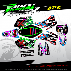 YZF450 YZF250 MX GRAPHICS PRIMAL X MOTORSPORTS BIKELIFE MX DECALS MOTOCROSS 420 WEED